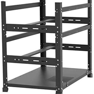 12 GPU Mining Rig Frame, Open Frame Minging, Mining Case Rack Motherboard Bracket ETH/ETC/ZEC Ether Accessory Tool With 3 Layers,Stackable Steel Open Air Miner Frame