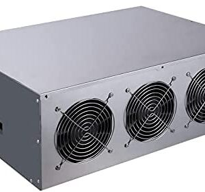8 GPU Miner Mining Machine System for Mining ETH Ethereum,GPU Miner Bitcoin Motherboard, CPU, SSD, RAM, with Cooling Fans(No PSU) Windows 10