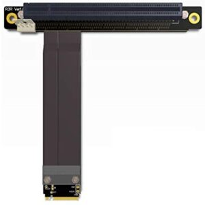 ADT-Link M.2 NGFF NVMe Key M Extender Cable to PCIE x16 Graphics Card Riser Adapter 16x PCI-e PCI-Express for M2 2230 2242 2260 2280 (25cm)