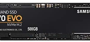 SAMSUNG (MZ-V7E500BW) 970 EVO SSD 500GB - M.2 NVMe Interface Internal Solid State Drive with V-NAND Technology, Black/Red