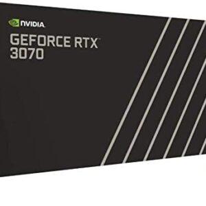 2021 Newst GeForce RTX 3070 Founders Edition Graphics Card 8GB GDDR6 PCI Express 4.0 Graphics Card - Dark Platinum and Black+ AllyFlex HDMI