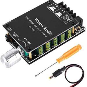 200W Bluetooth 5.0 Amplifier Board TPA3116,YEMIUGO 100W x 2 Digital AUX Audio Amp Module with LC Filter, Power High Fidelity HiFi Dual Channel Stereo