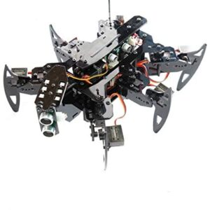 Adeept Hexapod Spider Robot Kit Compatible with Arduino IDE, Spider Walking Crawling Robot, Self-stabilizing Based on MPU6050 Gyro Sensor, STEAM Robotics Kit with PDF Manual