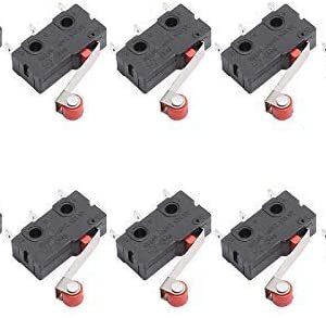 DEVMO 10PCS KW12-3 Micro Roller Lever Arm Normally Open Close Limit Switch for 3D Printer Part Endstop