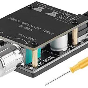 Audio Amplifier Board Wireless 2 Channel 5V-24V 2x50W Digital Stereo Module ZK-502L