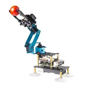Adeept RaspArm-S 4-DOF Robot Arm 4 Axis Robotic Arm Kit for Raspberry Pi 4 3B 3B+   Programmable Robot DIY Coding Robot Kit   STEAM Robot Arm Kit with OLED Display   Processing Code and PDF