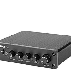 AIYIMA DC12-24V 2.1 Channel TPA3116 Subwoofer Bluetooth Amp HiFi TPA3116D2 2.1 Amplifier Board 50W x 2 + 100W Passive Subwoofer Amplifier (No Power Adapter)